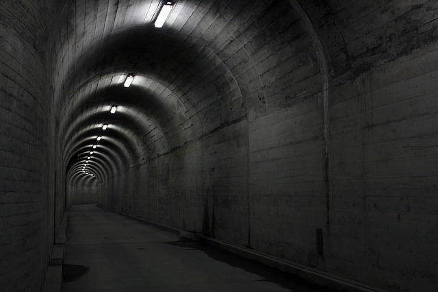 betonový tunel